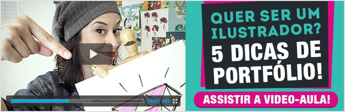 Video-aula 5 dicas de portfolio ilustradora Clau Souza Estúdio Borogodó
